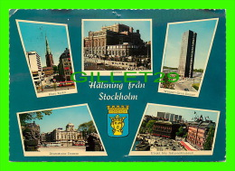 STOCKHOLM, SWEDEN - 5 MULTIVIEWS - TRAVEL IN 1971 - ULTRA - HALSNING FRAN STOCKHOLM - - Suède