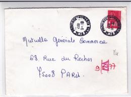 "1977 - ENVELOPPE De PARIS Avec RARE CACHET FERROVIAIRE ""PARIS GARE PLM PROVINCE"" - Marcofilia (sobres)"