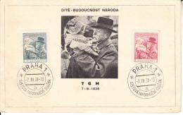 """CHECOSLOVAQUIA 1938.DOCUMENTO """"LOS NIÑOS EL FUTURO DE LA NACION"""".RARO.CN253 - Czechoslovakia"""