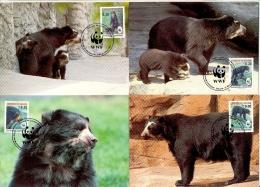 Nbh113mb WWF FAUNA ZOOGDIEREN BEER SPECTACLED BEAR MAMMALS BOLIVIA 1991 MAX # - Tarjetas – Máxima