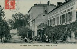 95 AUVERS SUR OISE / Rue De La Gare Et Bureau De Poste / - Auvers Sur Oise