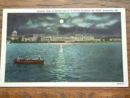 General View Of Harbor And U.S. Naval Academy By Night ( 44524 - N ) - Anno 1954 ( Zie Foto Voor Details ) !! - Annapolis – Naval Academy