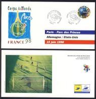 LOT DE 6 CARTES  COUPE DU MONDE  98 AVEC TIMBRE N°3139  VOIR DESCRIPTIF - 1998 – Francia
