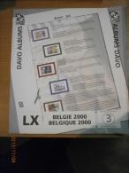 SUPPLEMENT DAVO BELGIQUE 2000 LX 3. - Album & Raccoglitori