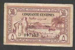 [NC] TUNISIE - PROTECTORAT FRANCAIS - 50 CENTIMENS (1943) - Tunisie