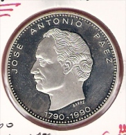 VENEZUELA 500 BOLIVARES 1990 JOSE ANTONIO PAEZ ZILVER PROOF - Venezuela