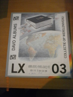 SUPPLEMENT DAVO BELGIQUE CK 55 T/M CK 59 LX 03. - Album & Raccoglitori