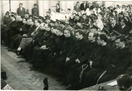 Kardinal Stepinac & Other On Court Judge TRIAL 1946 Orig. Photo 18x12 Cm OZNA Ultra Rare From Archive Ndh - Photography