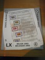 SUPPLEMENT DAVO BELGIQUE 2002 LX 4. - Album & Raccoglitori