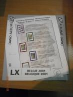 SUPPLEMENT DAVO BELGIQUE 2001 LX 6. - Album & Raccoglitori