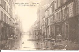 PUTEAUX (92)  -   Rue De Godefroy-  Série : Crue De La Seine - Puteaux