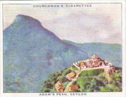 Churchman Cigarette Card Wings Over Empire No 30 Adams Peak Ceyl