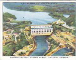 Churchman Cigarette Card Wings Over Empire No 41 Hydro-Electric