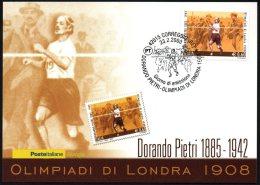 ATHLETICS / OLYMPIC GAMES - ITALIA CORREGGIO 2008 - DORANDO PIETRI - OLIMPIADI DI LONDRA 1908 - CARTOLINA POSTE ITALIANE - Summer 1908: London