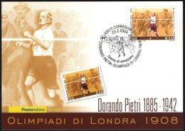 ATHLETICS / OLYMPIC GAMES - ITALIA CORREGGIO 2008 - DORANDO PIETRI - OLIMPIADI DI LONDRA 1908 - CARTOLINA POSTE ITALIANE
