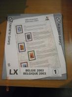 SUPPLEMENT DAVO BELGIQUE 2003 LX 1 . - Album & Raccoglitori