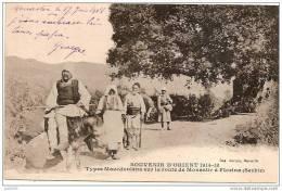 MONASTIR ..-- FLORINA ..-- SERBIE ..-- Types Macédoniens . 1918 Vers France . Voir Verso .