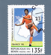 Rep. Benin  1997  Mi 919 Used   Mondiali Francia 98 - Bénin – Dahomey (1960-...)