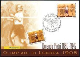 ATHLETICS / OLYMPIC GAMES - ITALIA CARPI 2008 - DORANDO PIETRI - OLIMPIADI DI LONDRA 1908 - CARTOLINA POSTE ITALIANE - Summer 1908: London
