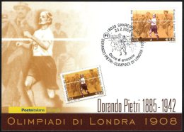 ATHLETICS / OLYMPIC GAMES - ITALIA SANREMO 2008 - DORANDO PIETRI - OLIMPIADI DI LONDRA 1908 - CARTOLINA POSTE ITALIANE