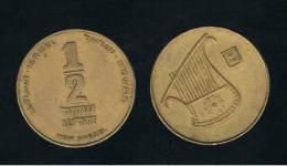 ISRAEL -  1/2 New Sheqel  KM159 - Israel