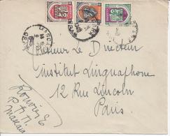 ALGERIE - 1948 -  AFFRANCHISSEMENT D'ARMOIRIES SUR LETTRE DE MASCARA, A DESTINATION DE PARIS - - Algérie (1924-1962)