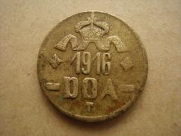 DOA  1916 EMERGENCY TABORA COINS 20 HELLER BRASS TYPE B - B . - German East Africa