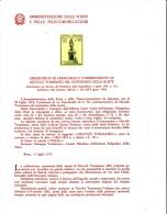 ITALIA - Bollettino Illustrativo P.TT. 1974 - (italiano-francese) -N.Tomasseo - Filosofia - Letteratura - Paquetes De Presentación