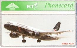 TARJETA DE REINO UNIDO DE UN AVION AIRBUS A320 (AVION-PLANE) NUEVA-MINT - Aerei