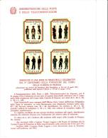 ITALIA - Bollettino P.TT. 1974  (italiano-francese) - Divise Guardia Di Finanza - Militaria - Paquetes De Presentación
