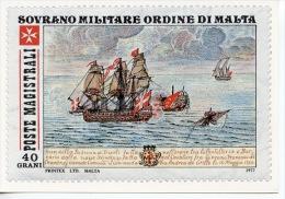 Ordre De Malte : Bataille Ancienne De La Marine De L´ordre - émission Philatélique N°40/1977 Oeuvres Hospitalières CPA - Warships