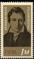 Dichter Heine 1972 DDR 1814 Aus Block 37 ** 1€ 175.Geburtstag Porträt Bloque Hojitas M/s Bloc Art Stamp Bf East-Germany - [6] Democratic Republic