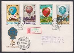 Ungarn  1983 Ballonpost (siehe Foto/Scan)