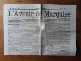 CENTENAIRE DE LA GRANDE GUERRE  l� Avenir de  Marquise - 1915