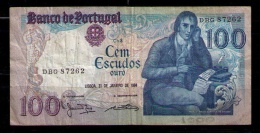 PORTUGAL - BILLETE DE 100 ESCUDOS DE 1984 - USADO - Portugal