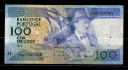 PORTUGAL - BILLETE DE 100 ESCUDOS DE 1986 - USADO - Portugal