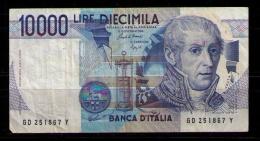 ITALIA - 10000 LIRE - VOLTA - USADO - [ 2] 1946-… : República