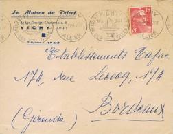 R 119. Carta Aguas De VICHY (Allier)  1951. Flamme - France