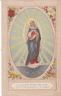 SANTINO IMMACCOLATA VENERATA DAGLI ANGELI CROMO COME DA SCANNERcm.11,5x7,2 -2 -0882 18217-218 - Images Religieuses