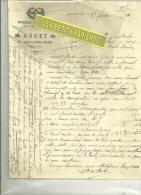 37 - Indre-et-loire - AZAY-SUR-CHER - Facture AUDET - Menuiserie – 1911 - 1900 – 1949