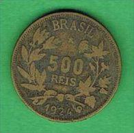 X357 Brasil 500 Réis 1924 - Brasile