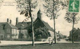 CPA 18 ASNIERES LE TEMPLE ET ROUTE DE BOURGES 1916 - Autres Communes