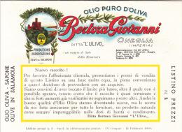 """PUBBLICITA´ ADVERTISING REKLAM WERBUNG """"OLIO PURO D'OLIVA BERTORA GIOVANNI L'ULIVO""""ONEGLIA - Werbepostkarten"""