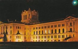 Canada Legislative Buildings At Night Regina Saslatchewan