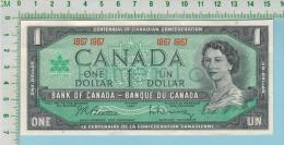 1967 Canadian One Dollar Bill (un Dollar De Papier 1967 Canada Sans Plis ) - Canada