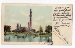 Water Works Park Detroit Michigan Vintage Original Postcard Cpa Ak (W3_2936) - Detroit