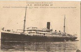 CPA-1915-SS MUSTAPHA II-CROISEUR AUXILIAIRE FRANCAIS 1é RANG-TRANSP TROUPE En ORIENT-TBE - Guerre