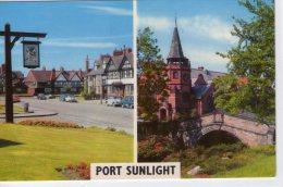 Angleterre..Port Sunlight..belle Vue Du Village..voitures - England