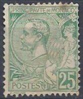 MONACO - 25 C. Vert Albert Ier Neuf  à 6 Pour Cent! - Monaco