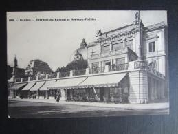 CP SUISSE (V02) GENÊVE (2 Vues) Terrasse Du Kursaal Et Nouveau Théatre Marcophilie CHIMAY & GENEVE 1909 - GE Geneva